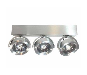 Artdelight Plafondlamp Dutchess LED 3L - Aluminium