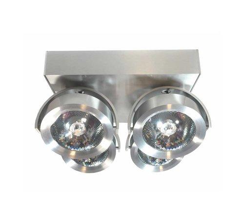 Artdelight Plafondlamp Dutchess LED 4L - Aluminium