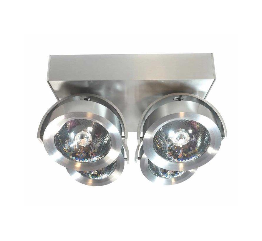 Plafondlamp Dutchess LED 4L - Aluminium