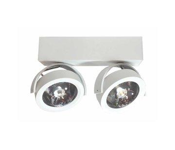 Artdelight Plafondlamp Dutchess LED 2L - Wit