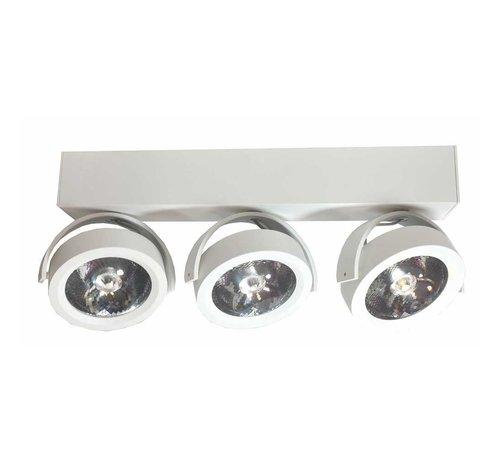 Artdelight Plafondlamp Dutchess LED 3L - Wit
