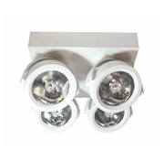 Artdelight Plafondlamp Dutchess LED 4L - Wit