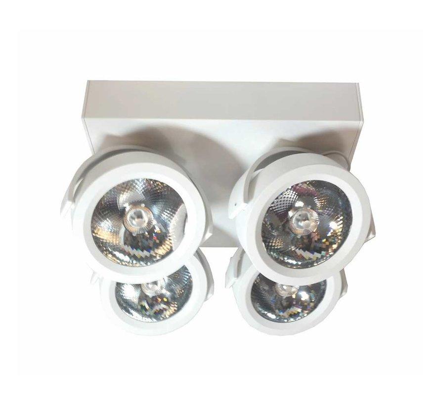 Plafondlamp Dutchess LED 4L - Wit