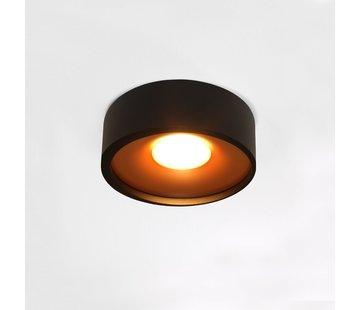 Artdelight Plafondlamp Orlando - Zwart/Goud