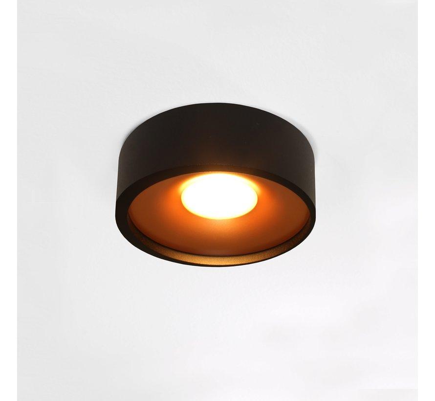 Plafondlamp Orlando - Zwart/Goud