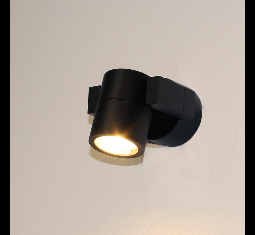 Wandlamp Single - Zwart