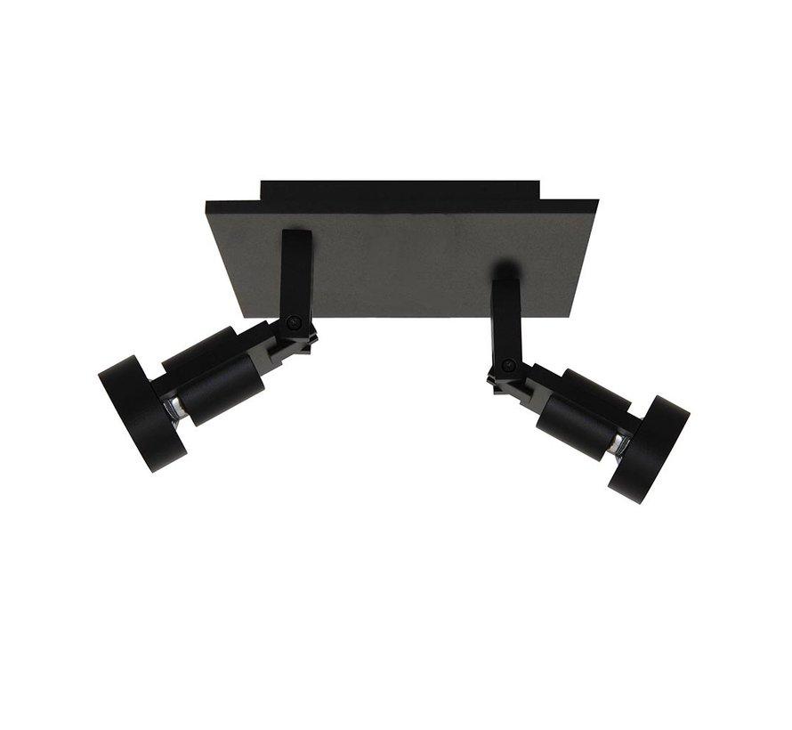 Plafondlamp Tech 2L SQ - Zwart