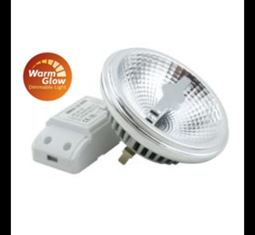 Plafondlamp Dutchess 1L SQ - Aluminium - Dim to Warm