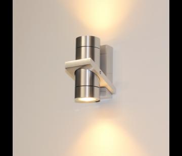 Artdelight Wandlamp Double - Aluminium