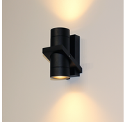 Artdelight Wandlamp Double - Zwart