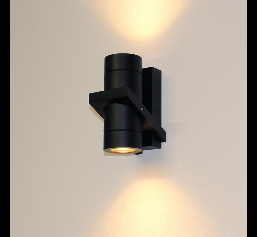 Wandlamp Double - Zwart
