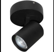 Artdelight Plafondlamp Vivaro 1L Rond - Zwart
