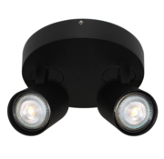Artdelight Plafondlamp Vivaro 2L Rond - Zwart