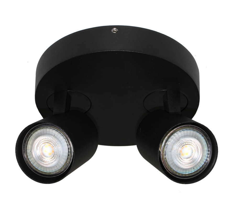 Plafondlamp Vivaro 2L Rond - Zwart