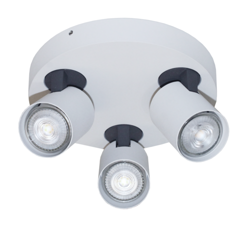 Artdelight Plafondlamp Vivaro 3L Rond - Wit