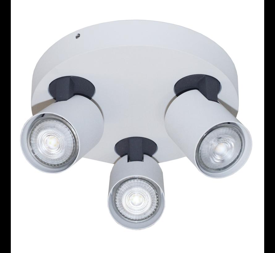 Plafondlamp Vivaro 3L Rond - Wit