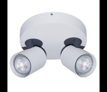 Artdelight Plafondlamp Vivaro 2L Rond - Wit