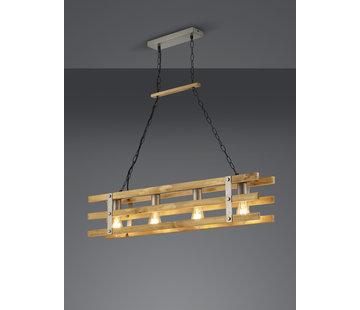 Trio Leuchten Hanglamp Khan - Brons/Hout