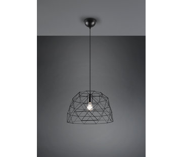 Trio Leuchten Hanglamp Haval Ø38cm - Zwart