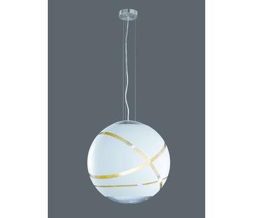Trio Leuchten Hanglamp Faro Ø50cm - Wit/Goud