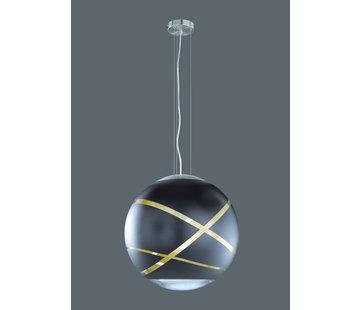 Trio Leuchten Hanglamp Faro Ø30cm - Zwart/Goud