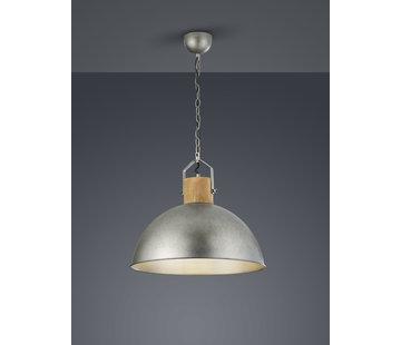 Trio Leuchten Hanglamp Delhi - Hout/Zilver