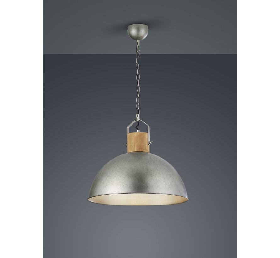 Hanglamp Delhi - Hout/Zilver