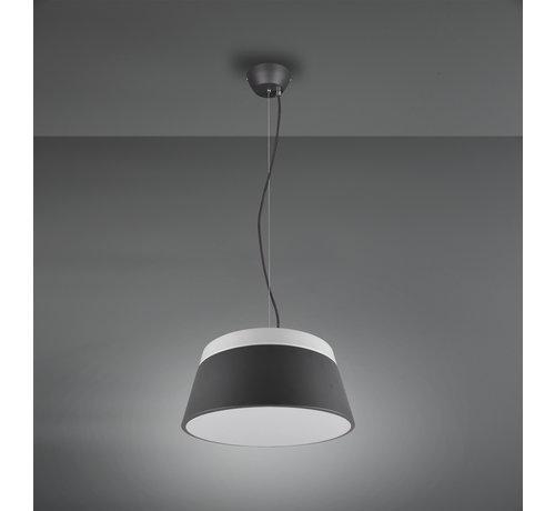 Trio Leuchten Hanglamp Baroness Ø45cm - Antraciet/Wit