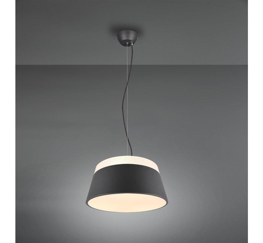 Hanglamp Baroness Ø45cm - Antraciet/Wit