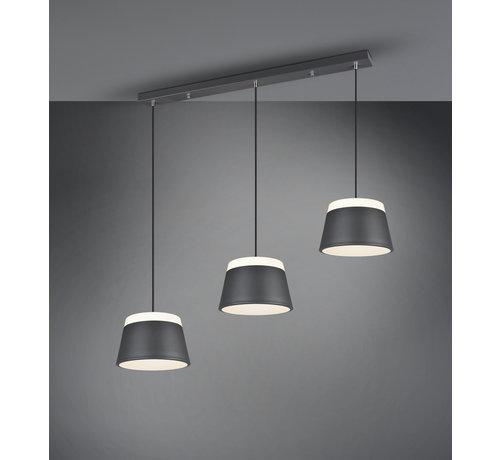 Trio Leuchten Hanglamp Baroness 3L - Antraciet/Wit