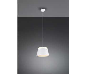 Trio Leuchten Hanglamp Baroness Ø25cm - Wit
