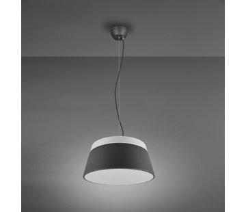 Trio Leuchten Hanglamp Baroness Ø25cm - Antraciet/Wit