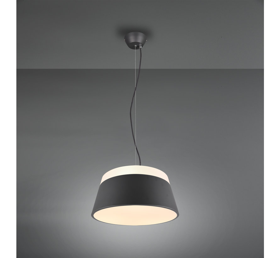 Hanglamp Baroness Ø25cm - Antraciet/Wit