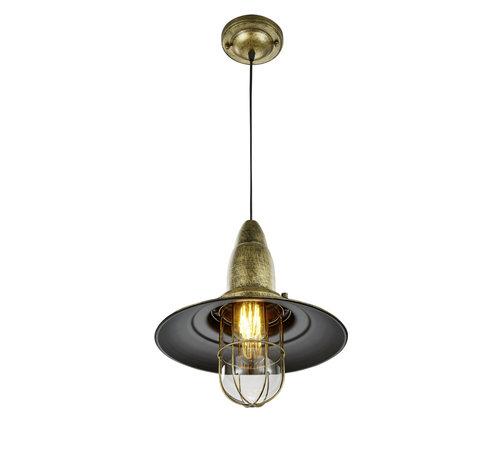 Trio Leuchten Hanglamp Fisherman - Brons