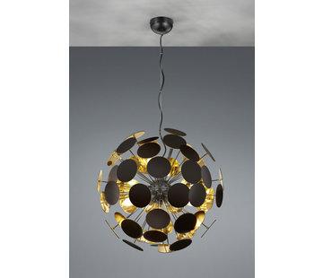 Trio Leuchten Hanglamp Discalgo - Zwart/Goud