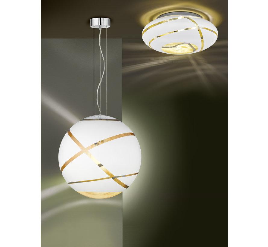 Hanglamp Faro Ø30cm - Wit/Goud