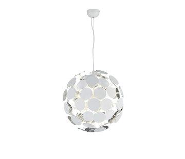Trio Leuchten Hanglamp Discalgo - Wit/Chroom