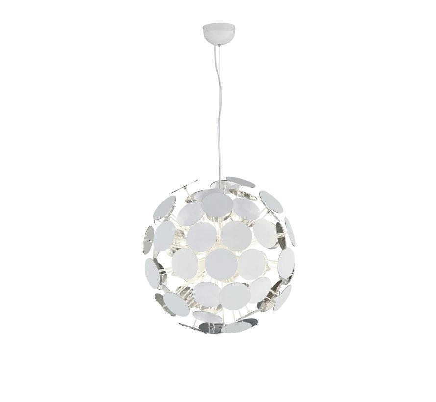 Hanglamp Discalgo - Wit/Chroom