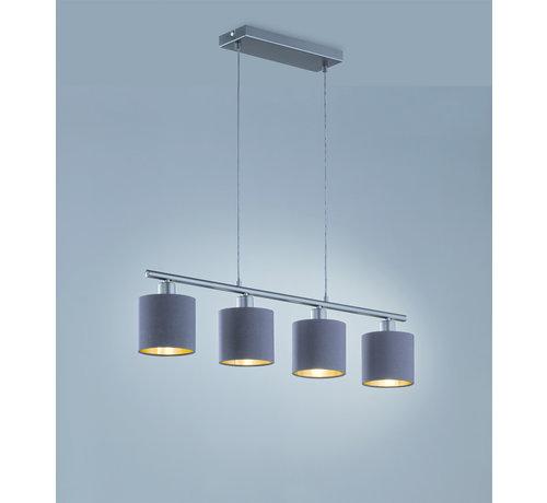 Trio Leuchten Hanglamp Tommy 4L - Zwart/Goud