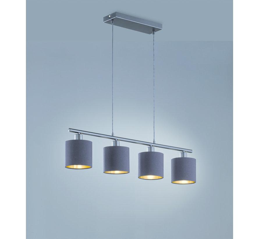 Hanglamp Tommy 4L - Zwart/Goud