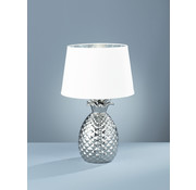 Trio Leuchten Tafellamp Pineapple - Wit/Zilver