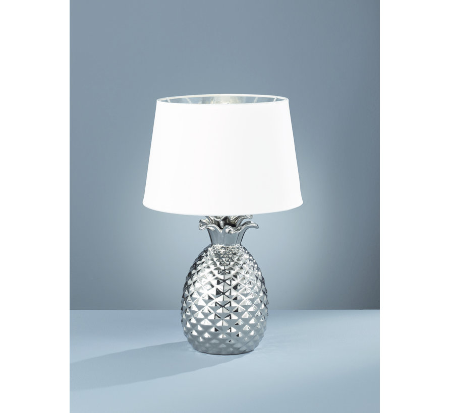 Tafellamp Pineapple - Wit/Zilver