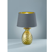 Trio Leuchten Tafellamp Pineapple - Zwart/Goud