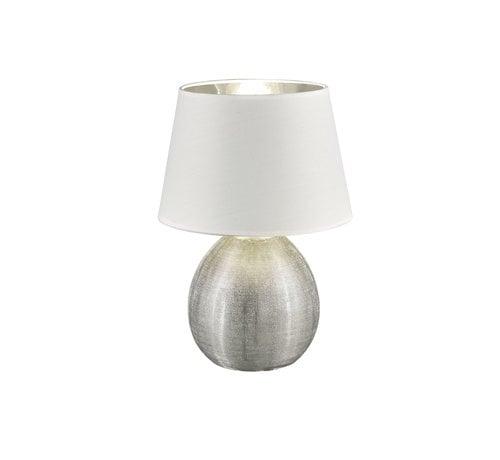Trio Leuchten Tafellamp Luxor - Wit/Zilver