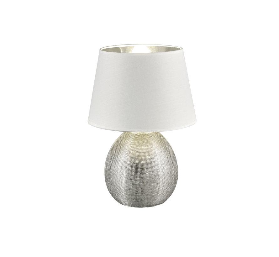 Tafellamp Luxor - Wit/Zilver