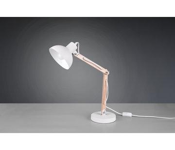 Trio Leuchten Tafellamp Kimi - Wit/Hout