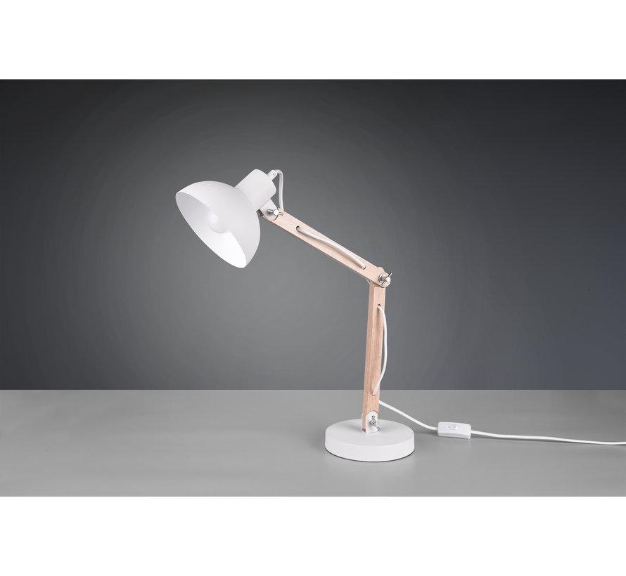 Tafellamp Kimi - Wit/Hout