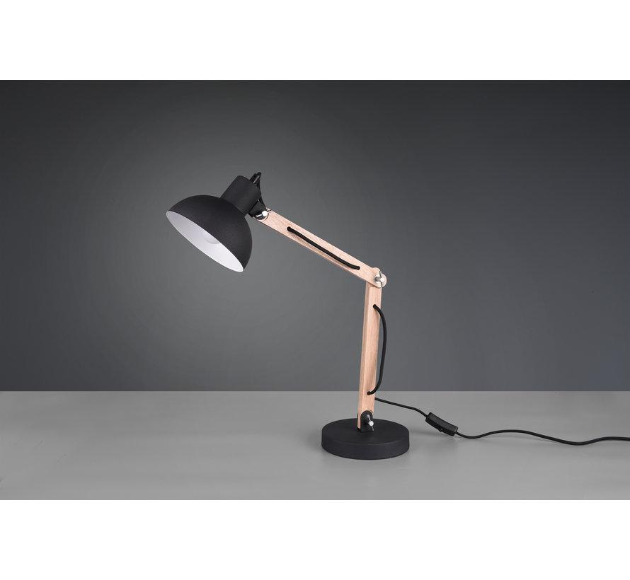 Tafellamp Kimi - Zwart/Hout