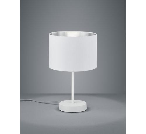 Trio Leuchten Tafellamp Hostel - Wit/Zilver