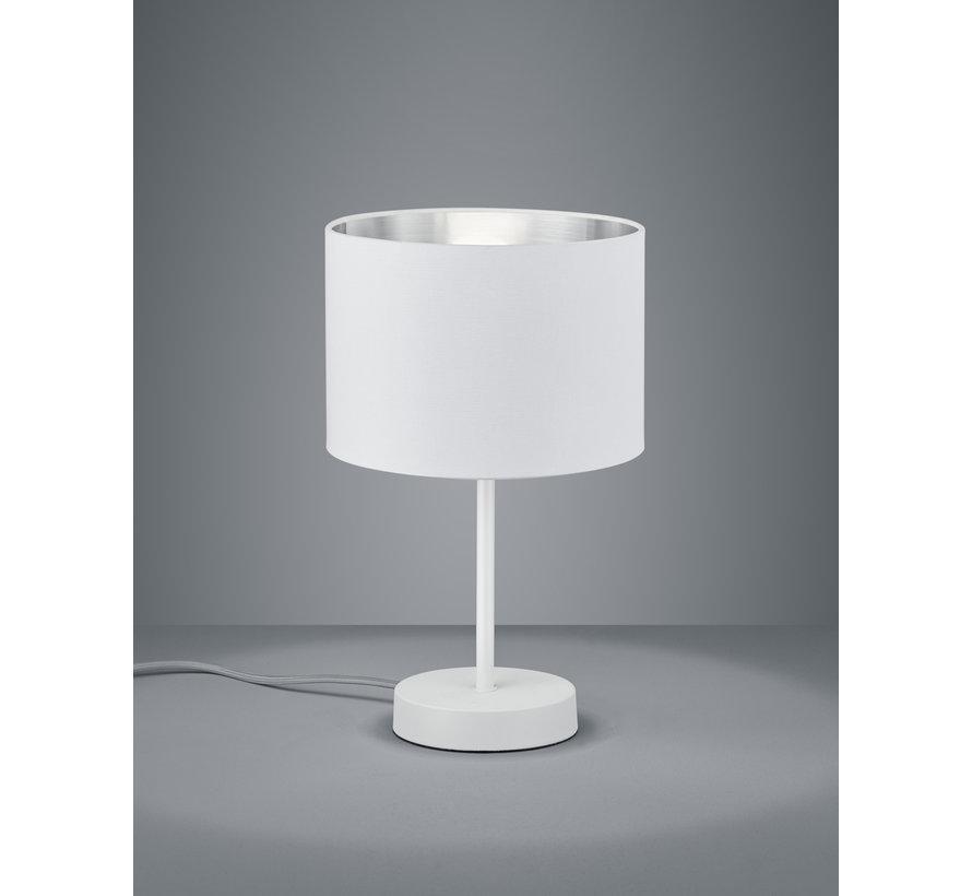 Tafellamp Hostel - Wit/Zilver